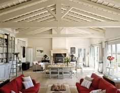 Gustavian Style in Spain   Inspiring Interiors -this ceiling is incredible, not to mention the built-ins and the french doors