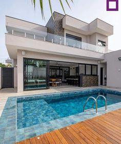 Best Living Room Design, Dream Home Design, House Front Design, Modern House Design, Future House, Design Exterior, Small Backyard Pools, Luxury Homes Dream Houses, Dream House Exterior