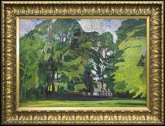 Czajkowski Stanisław Church among Trees Kyffin Williams, Landscape Art, Impressionism, Fine Art, Sunset, Abstract, Trees, Drawings, Paintings