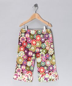 Peace and Butterflies Ruffle Pant by sewmeamemory on Etsy, $36.00