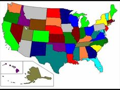 Animaniacs - 50 states of America with their capitals Showing on map