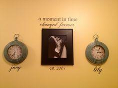 Clocks set to kids birth times