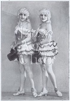 The American Dodge Twins were a glamorous singing and dancing act that took Europe by storm in the Jazz Age of the Cabaret Show, Jazz Age, The Old Days, Dodge, Dancing, Twins, Old Things, Glamour, Club