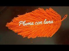 "✔ Cómo hacer plumas con hilos técnica macreme | #pluma ""Feather yarn"" - YouTube Lana, Feather, Neon Signs, Crafts, Canvas Bags, Beach House, Youtube, Craft Ideas, Alphabet"