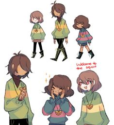 Here's a theory, I think that Kris is chara and frisk combined but Toby did not want to make it too obvious. That's why it's not Chrisk. Undertale Undertale, Undertale Drawings, Frisk, Kfc, Sans Anime, Character Art, Character Design, Toby Fox, Game Art