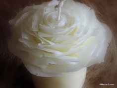 White Beeswax Rose Wedding Unity Candle Set Handmade by ForestCandleStudio