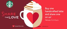 Starbucks: Buy One Handcrafted Latte, Get One Free (2/14 Only) - Sassy Dealz