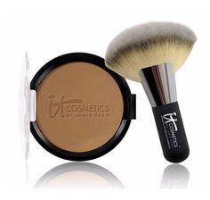 IT Cosmetics Vitality Glow Anti-Aging Matte Bronzer With Fan Brush