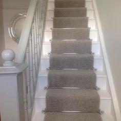 Ruthless Stair Runner Carpet Diy Stairways Strategies Exploited Fresh 23 Escaleras pintadas bonitas Ideas para inspirar su hogar Alfombra gris by areyman Grey Stair Carpet, Carpet Diy, Carpet Staircase, Staircase Runner, Carpet Stair Treads, Carpet Ideas, Stair Runners, White Staircase, Stairs With Carpet Runner