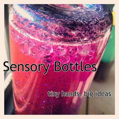 pink sensory bottle closeup