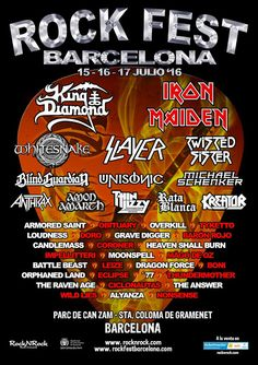 Rock Fest Barcelona 2016 - Javiflames Blog
