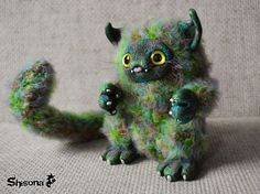 Зона Shison'ы  (Shisona Cattus) #cat #catdoll #art #handmade #green #fantasy #nya