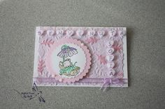 Biglietto Nascita Romantico di Soffi di Carta By Sab su DaWanda.com