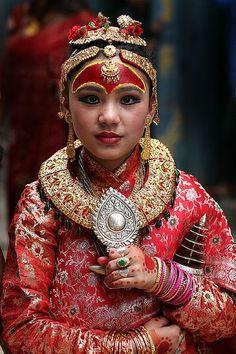 living goddess of nepal (kumari) #culture