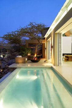 perfect pool/ tree combination An Urban Village: LEON BARNARD'S PERFECT HAVEN IN NAMIBIA