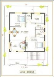 Smartness 5 900 Sq Ft House Plans East Facing Layout For 450 Sq