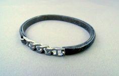 italian leather bangle bracelets | Greta Italy Leather Bracelet | Pin your eBay wares, sharing our produ ...