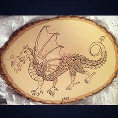 Dragon woodburn for my dad