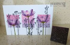 And another one for the series of using wooden stamps. Gelli Printing, Art Journal Pages, Art Journaling, Watercolor Cards, Card Tags, Cool Cards, Tag Art, Greeting Cards Handmade, Cardmaking