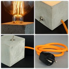 Cubo: concrete lamp. Table lamp. Table lamp. (incl. bulbs)