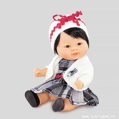 Кукла 21 см, Бебетин в клетчатом платье и белом жакете, Carmen Gonzalez