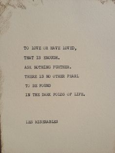 THE LES MISERABLES  Typewriter quote on 5x7 by WritersWire on Etsy, $6.00