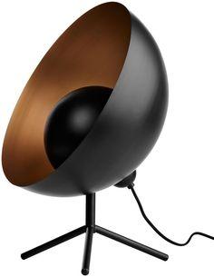 ВoConcept. Настольная лампа Satellite, чeрный металл, внутри медного цвета. В52xØ40см. € 593