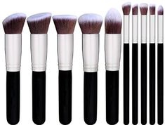 BS-MALL(TM) Makeup Brushes Premium Makeup Brush Set Synthetic Kabuki Cosmetics Foundation Blending Blush Eyeliner Face Powder Brush Makeup Brush Kit Golden Black) – Beauty and Luxury Cheap Makeup Brushes Set, Best Cheap Makeup, Eye Makeup Brushes, Makeup Tools, Makeup Contouring, Best Makeup Brush Sets, Best Brush Sets, Makeup Sets, Makeup Artists