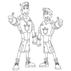 wild kratts coloring pages free printable c s party pinterest