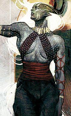 Dragon Age: Inquisition — race/gender card - Qunari