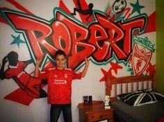He will never walk alone! Kid's bedroom graffiti...sahweet!