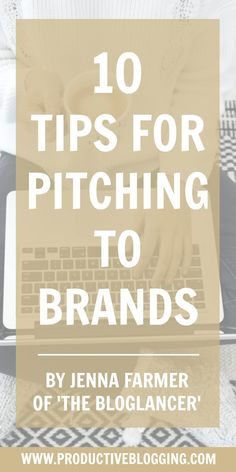 Jenna Farmer blogs all about freelance life and making money from your blog over on The Bloglancer. She also commissions bloggers on behalf of brands and has published an in-depth ebook on working with brands: The Pitching Toolkit. Here she shares 10 tips for pitching to brands. #pitching #sponsoredposts #brandcollaborations #workingwithbrands #sponsoredwork #makemoneyblogging #treatitlikeabusiness #businessblogging #bizblogging #bloggingtips #blogginghacks #productiveblogging Make Money Fast, Make Money Blogging, Make Money Online, Write An Email, Top Blogs, Be Your Own Boss, Free Training, Influencer Marketing, Blog Tips