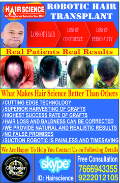 Our New Artwork for advertisement for Hair Science Best Hair Transplant Centre in India