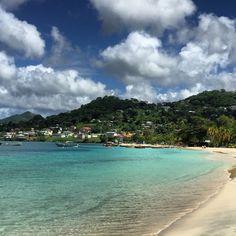 Beautiful Grenada, morning walk on the beach