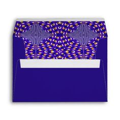 Halloween Psychedelic stationery envelopes in eye popping colors