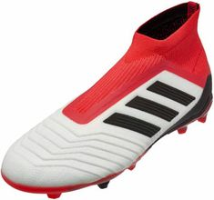 online store 180bf 494c5 adidas Kids Predator 18+ FG - White amp Real Coral  SoccerMaster.com