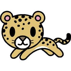cute cheetah cartoon vector door decs pinterest cartoon rh pinterest com cheetah clipart face cheetah clip art images