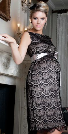 Audrey Shift Maternity Dress (Black) by Tiffany Rose I wish I could pull this look off while pregnant