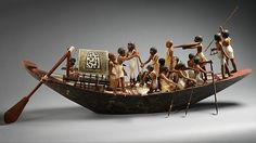 Model Sporting Boat Period: Middle Kingdom Dynasty: Dynasty 12 Reign: reign of Amenemhat I, early Date: ca. 1981–1975 B.C. Geography: From Egypt, Upper Egypt, Thebes, Southern Asasif, Tomb of Meketre (TT 280, MMA 1101), Serdab, MMA excavations, 1920
