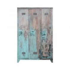 #Lockerkast #hout – t#urquoise – #HK #Living #interieur
