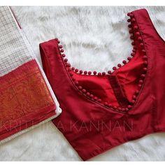 Blouse Designs High Neck, Simple Blouse Designs, Stylish Blouse Design, Kerala Saree Blouse Designs, Cotton Saree Blouse Designs, Latest Saree Blouse Designs, Indian Blouse Designs, Brocade Blouse Designs, Choli Blouse Design