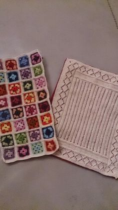 Miniature knitting and crochet.