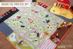 Deena Rutter describes how she made this fabulous playmat from her Wheels 2 fabric panel. Fun!!! #iloverileyblake
