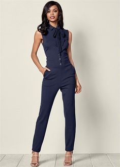 42abb533382 Venus Women s Button Detail Jumpsuit Jumpsuits  amp  Rompers Casual Work  Outfits