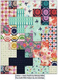 Looking for your next project? You're going to love Plus Quilt -Baby Size by designer Jen Eskridge. Quilting Templates, Quilting Tutorials, Quilting Projects, Quilting Designs, Quilting Ideas, Embroidery Designs, Beginner Quilting, Quilting Blogs, Sewing Tutorials