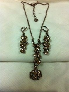 Necklace And Earring Set GIVENCHY rhinestones