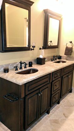 Double Bathroom Vanity Cabinets   Kenwood Kitchens in Lutherville, Maryland