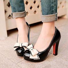 Chaussures femmes bout rond talons talons aiguilles avec des chaussures bowknot plusieurs couleurs disponibles - EUR € 21.12
