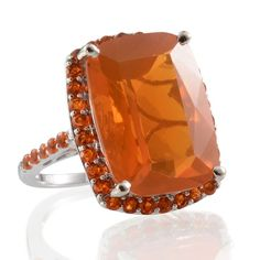 14K White Gold Jalisco Fire Opal Ring | Liquidation Channel
