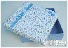 Caixa Forrada - Lembranças Baby Boy | Pitilikos | Elo7